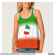 Italy Women's All-Over Print Racerback Tank Top