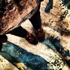 Alex Nunez Art + Helmut Lang Top + a detacher Shoes