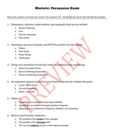 ethos pathos logos multiple choice quiz pdf