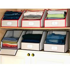 Storage Bins From Great Useful Stuff Velcroed Pulldown Front Closet