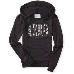 Aero Floral Sequin Popover Hoodie ($28) ❤ liked on Polyvore featuring tops, hoodies, black, long hoodie, long hoodies, hooded sweatshirt, long hooded sweatshirt and aeropostale hoodie