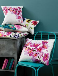 Bluebellgray Blossom Pillows