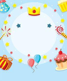 New birthday poster background 60 ideas Happy Birthday Frame, Birthday Frames, Happy Birthday Images, Birthday Pictures, Happy Birthday Wishes, Birthday Greetings, Birthday Party Snacks, Birthday Diy, Birthday Gifts