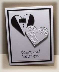 Unique hand painted Hearts Card- Original Art Blank Inside  Mother/'s Day Valentines Day Etc Card- 4.5 x 5.25 Anniversary Love Note