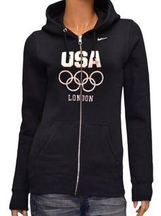 Nike Women's USA Olympic London Hoodie Sweatshirt-Dark « Clothing Impulse  I WANT!!!!!!!