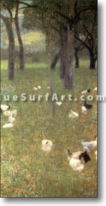After the Rain (Garden with Chickens in St. Agatha) - £124.99 : Canvas Art, Oil Painting Reproduction, Art Commission, Pop Art, Canvas Painting #gustavklimt #oilpainting #canvasart #homedecor #decorations #art #paintings