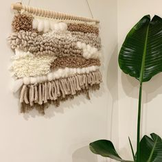 Using coloured woolen yarn to create these wall hangings - using weaving techniques on a weaving loom. Mainly rya loops and tabby weave. Perfect wall decor, adding woven texture and warmth! Neutrals/browns Loom Weaving, Weaving Techniques, Wall Hangings, Weave, Neutral, Wall Decor, Texture, Blanket, Color