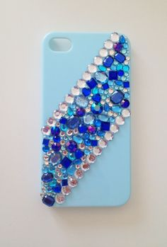 Blue Sparkles Rhinestone iPhone Case. $14.00, via Etsy.