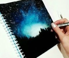 galaxy painting cover art journal