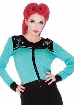 Martini Embroidered Cardigan by Voodoo Vixen