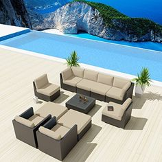 NEW Uduka Bangalore 11 Pcs Outdoor Light Beige Sectional Patio Furniture Espresso Brown Wicker Sofa Set All Weather Uduka http://www.amazon.com/dp/B00T8946RM/ref=cm_sw_r_pi_dp_Qcpwvb12BCG8Y