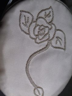 Purse for the bride-to-be. Only one made. 100% silk and hand beaded floral design. www.alterationsavenue.com