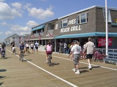Ocean City- Oves on the Boardwalk- stop in for breakfast (ask about the donuts!) and then head around back to rent bikes!