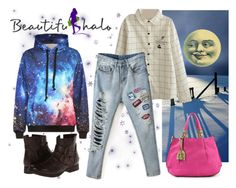 """Where Man and Moon have a smilin' face"" by gabriele-bernhard ❤ liked on Polyvore featuring Gabriella Rocha and beautifulhalo"