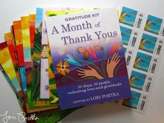 Send beautiful postcards of gratitude. Using Lori Portka's Gratitude Kit changed my life. For real. (And it even includes stamps!) :: A Month of Thank You's Gratitude Kit  by LoriPortka