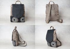 black backpack bag backpack canvas backpack laptop by Badimyon