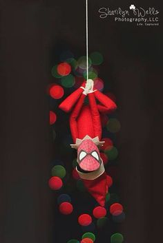 Elf on a Shelf Ideas - Spider-Man