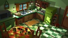 Low Poly Kitchen Scene by Obsidianmoon13