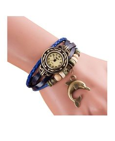 Woman Dolphin Bracelet Wrist Watch