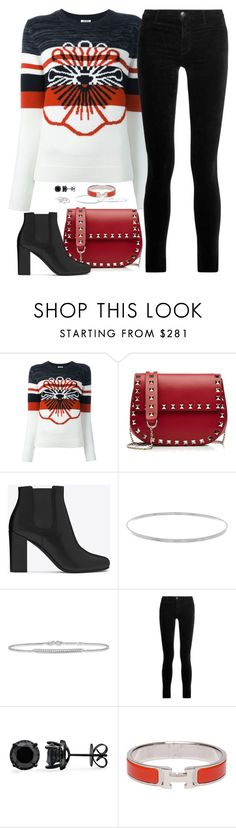 """""""Untitled 340 (Fall/Winter)"""" by maddkat ❤ liked on Polyvore featuring Kenzo, Valentino, Yves Saint Laurent, Lana, Allurez, J Brand, Hermès and London Road"""