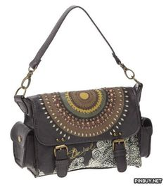 Desigual Mini Satch Troquel Tachas Cross Body - Cross Body - Bags and Purses