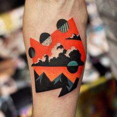 90 Circle Tattoo Designs For Men - Circular Ink Ideas Body Art Tattoos, Cool Tattoos, Tatoos, Eye Tattoos, Weird Tattoos, Psychedelic Tattoos, Pochette Cd, Vancouver Tattoo, Surreal Tattoo