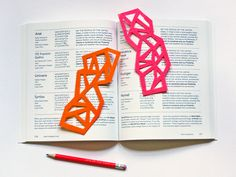 Fun with felt: DIY geometric bookmarks