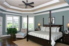 Love The Paint Color Tray Ceiling Bedroom False Living Room Flooring