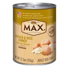 Nutro MAX Senior Dog Chicken and Rice Dinner Canned Food Pack of 12 125 oz each * See this great product. This is an Amazon Affiliate links.