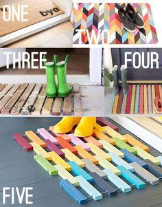 wooden doormats - DIY