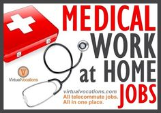 ***Medical Telecommute Jobs*** The medical profession provides some of the most versatile ways to #workfromhome. Whether you are a nurse, doctor, medical liaison, coder, or other qualified professional, we can connect you to a #virtual #job that suits your skills and experience.