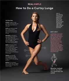 How to do a curtsy lunge.