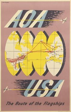 AOA (American Overseas Airlines), Lewitt-Him, 1948 [AOA merged into Pan Am in 1950]