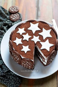Cake Pan of Stars: the original recipe of the Sweet Pan .- Torta Pan di Stelle: la Ricetta originale del Dolce Pan di Stelle e nutella Torta Pan di Stelle: the original recipe of the Sweet Pan di Stelle and nutella - Sweet Recipes, Cake Recipes, Dessert Recipes, Mousse Au Chocolat Torte, Nutella Cake, Cake Pans, Cake Cookies, Love Food, Cake Decorating