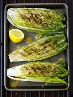 Grilled Romaine - my fav salad!  Sounds amazing.  Trying this tomorrow night.