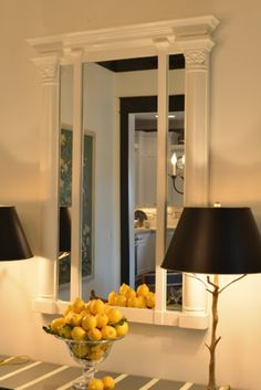 Gorgeous Neoclassical Cream Lacquer Mirror