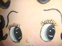 Pintura en Tela ojos y labios de Betty Boop