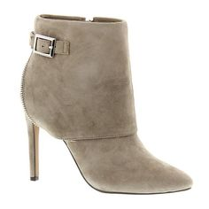 Jessica Simpson Dyers ($149) ❤ liked on Polyvore featuring shoes, boots, ankle booties, taupe, jessica simpson booties, high heel boots, high heel booties, taupe bootie and zipper boots