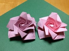 One minute Origami Rose. YouTube tutorial.