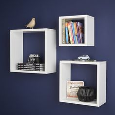 9 best floating cube shelves images floating cube shelves rh pinterest com