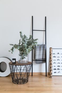 ferm living wire basket as a side table // 70percentpure x ezisliving
