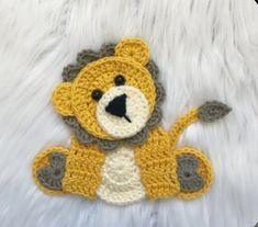 Ravelry: Sittin' Zoo Cuties pattern by Jen Mitchell - Nella's Cottage Crochet Puff Flower, Crochet Flower Patterns, Applique Patterns, Love Crochet, Easy Crochet, Crochet Flowers, Crochet Baby, Motifs D'appliques, Crochet Motifs