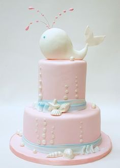 Baby shower cake. So cute!