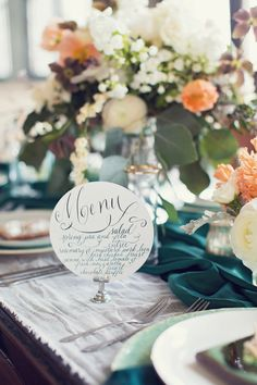 Calligraphy Menu Design  Weddings & Events by EverlyCalligraphy