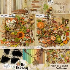 Pieces Of Autumn Collection by Palvinka Designs | Digital Scrapbook @ at The Digichick