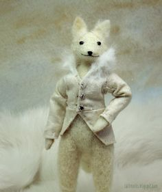Arctic Wolf Handmade from needle felted wool by SaltMoths on Etsy, $45.00