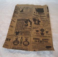 newspaper print bags