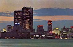toronto skyline. 1970.
