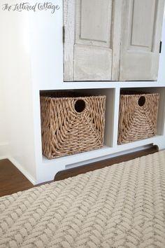 Flor Carpet Squares   Roadside Attraction in Eggnog   Old Doors   Built In Storage   Baskets from HomeGoods