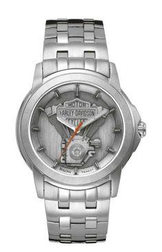 Harley-Davidson® Men's Bulova Bracelet Watch 76A021 | bikeraa.com